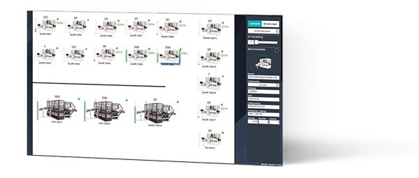 Screenshot of our production data acquisition software